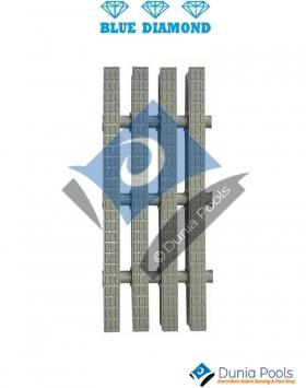 Grill Grating Kolam Renang 3 Pin Lebar 25 CM-Grey